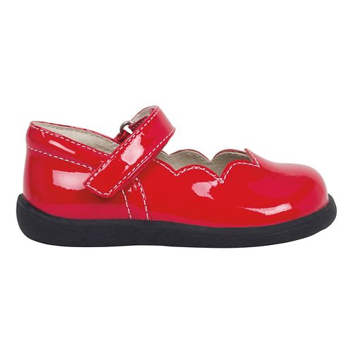 Kids See Kai Run Savannah Casual Shoe - Red Patent 6C