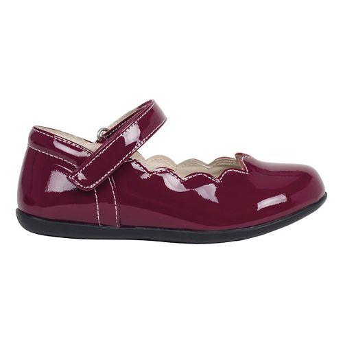 Kids See Kai Run Savannah Patent Casual Shoe - Burgundy Patent 10C