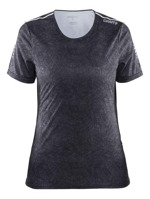 Womens Craft Mind Tee Short Sleeve Technical Tops - Black Line/Black L