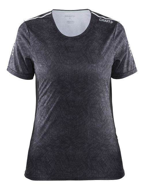 Womens Craft Mind Tee Short Sleeve Technical Tops - Black Line/Black S