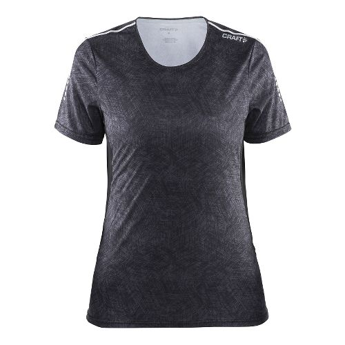 Womens Craft Mind Tee Short Sleeve Technical Tops - Black Line/Black S