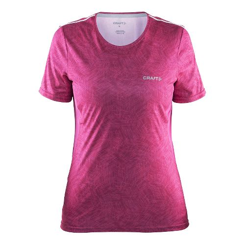 Womens Craft Mind Tee Short Sleeve Technical Tops - Line Smoothie XL