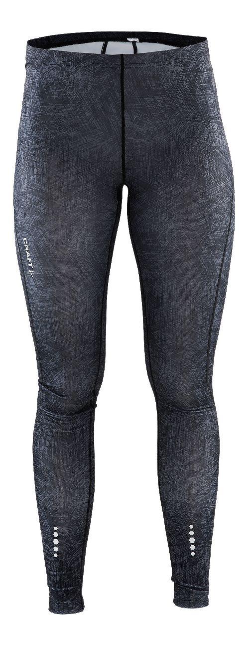 Womens Craft Mind Tights & Leggings Pants - Line Black XL