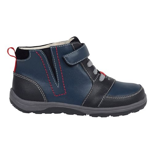 Kids See Kai Run Ian Casual Shoe - Navy/Brown 10.5C