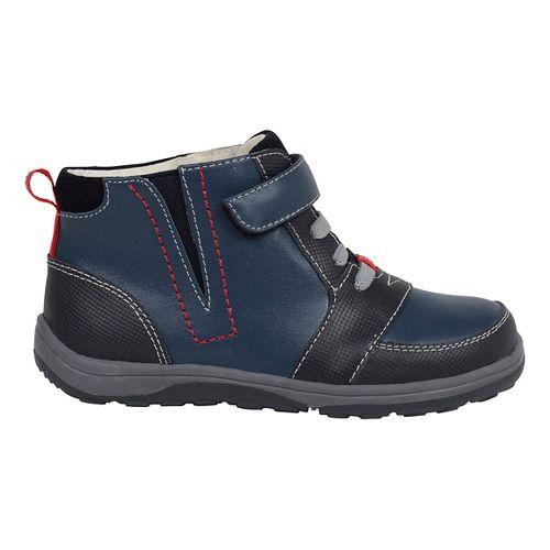 Kids See Kai Run Ian Casual Shoe - Navy/Brown 9.5C