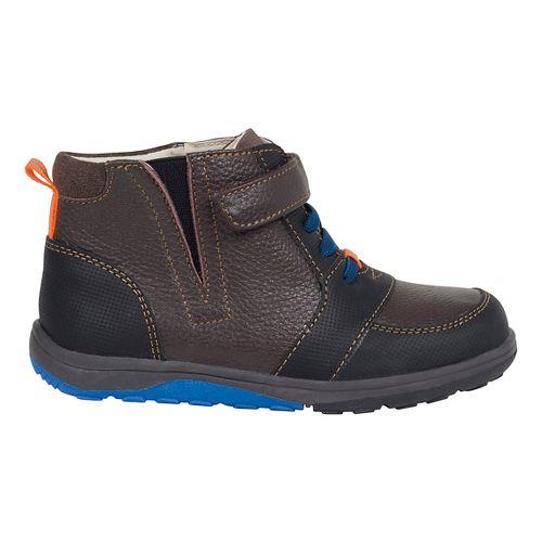 Kids See Kai Run Ian Casual Shoe - Navy/Brown 11C