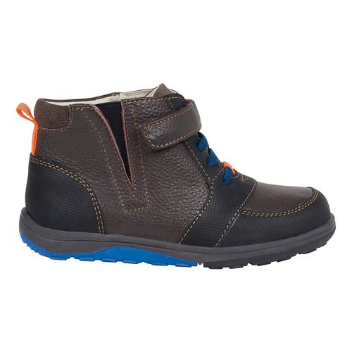Kids See Kai Run Ian Casual Shoe - Navy/Brown 10.5C