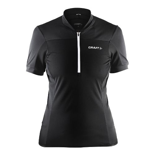 Womens Craft Motion Jersey Short Sleeve Technical Tops - Black/White M