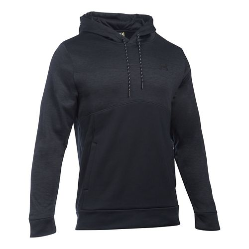 Mens Under Armour Storm Armour Fleece Twist Half-Zips & Hoodies Technical Tops - Black/Black XL ...