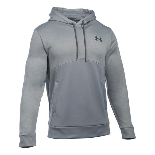 Mens Under Armour Storm Fleece Icon Twist Hoodie & Sweatshirts Technical Tops - Steel/Steel LR ...