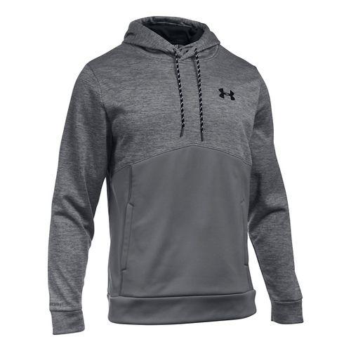 Mens Under Armour Storm Armour Fleece Twist Half-Zips & Hoodies Technical Tops - Graphite/Black S