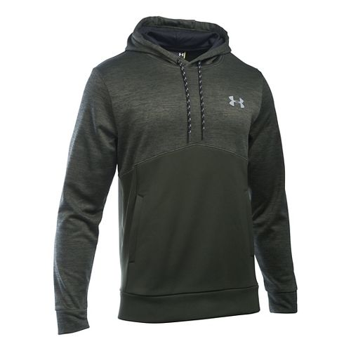 Mens Under Armour Storm Fleece Icon Twist Hoodie & Sweatshirts Technical Tops - Army ...