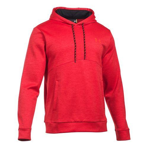 Mens Under Armour Storm Armour Fleece Twist Half-Zips & Hoodies Technical Tops - Red/Black XL
