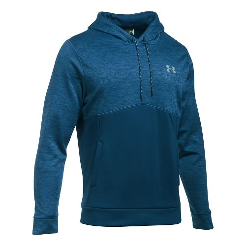 Mens Under Armour Storm Armour Fleece Twist Half-Zips & Hoodies Technical Tops - Blackout Navy ...