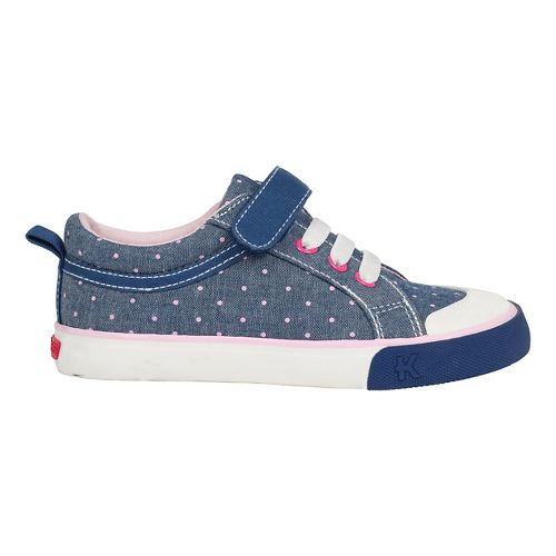 Kids See Kai Run Kristin Casual Shoe - Blue/Dots 3Y