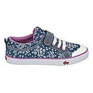 Girls See Kai Run Kristin Casual Shoe - Blue Flowers 1.5Y