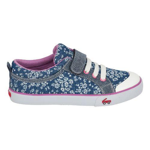 Girls See Kai Run Kristin Casual Shoe - Blue Flowers 2Y