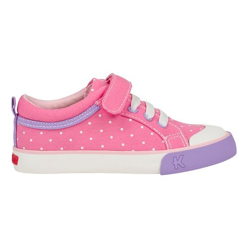 See Kai Run Kristin Casual Shoe - Hot Pink/Dots 10C