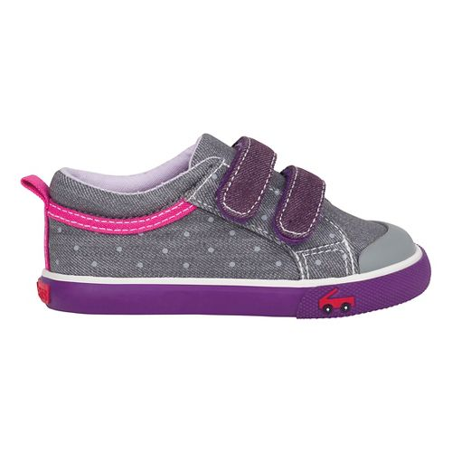 See Kai Run Girls Robyne Casual Shoe - Grey/Purple 9C