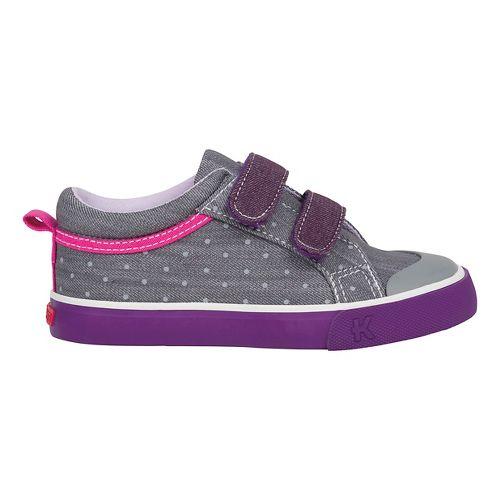 Kids See Kai Run Robyne Casual Shoe - Grey/Purple 12C