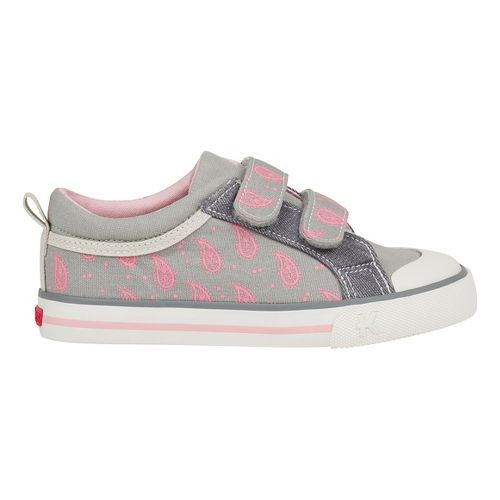 See Kai Run Robyne Casual Shoe - Grey/Pink 1.5Y