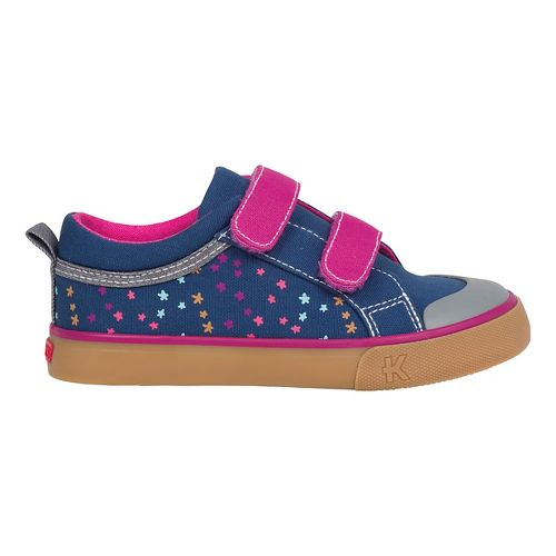 See Kai Run Girls Robyne Casual Shoe - Navy/Berry 1Y