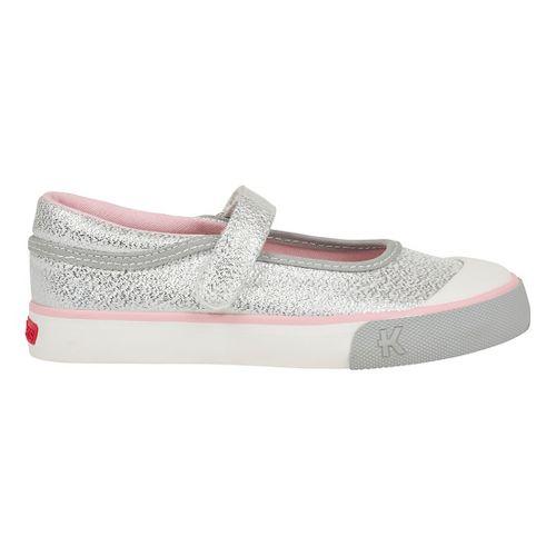 See Kai Run Marie Casual Shoe - Silver Glitter 10.5C