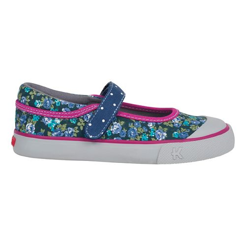 See Kai Run Girls Marie Casual Shoe - Navy/Berry 1Y