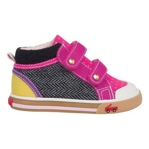See Kai Run Kya Girls Casual Shoe - Hot Pink/Grey 8.5C