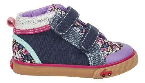 Kids See Kai Run Kya Casual Shoe - Blue Multi Floral 8C