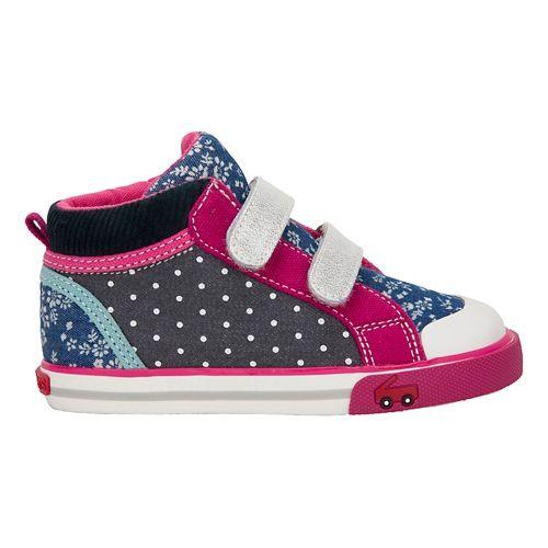 Kids See Kai Run Kya Casual Shoe - Navy/Purple 11.5C