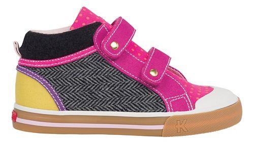 Kids See Kai Run Kya Casual Shoe - Hot Pink/Grey 2Y
