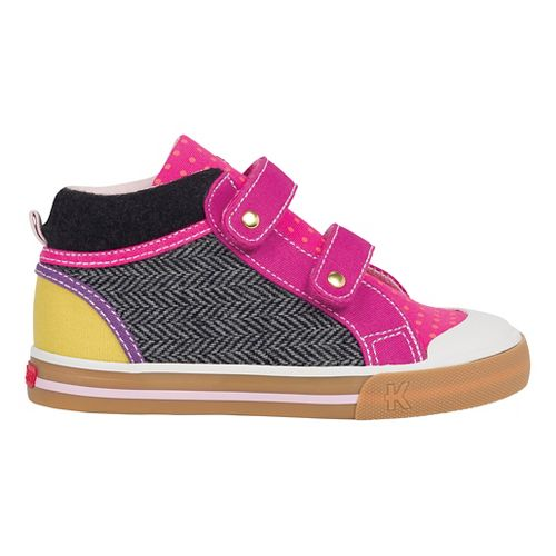See Kai Run Girls Kya Casual Shoe - Hot Pink/Grey 2.5Y