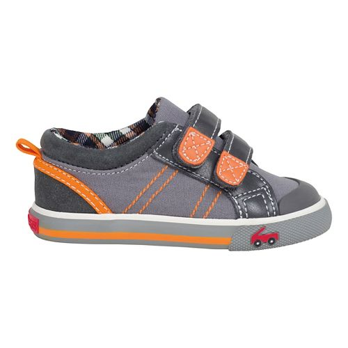Kids See Kai Run Hess II Casual Shoe - Navy/Burgundy 7.5C