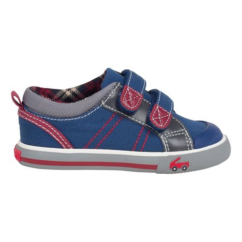 Kids See Kai Run Hess II Casual Shoe - Navy/Burgundy 4.5C