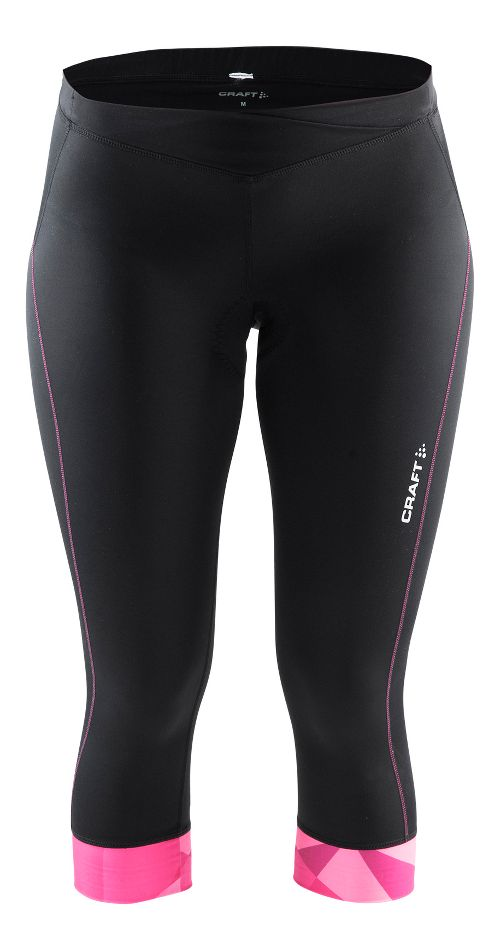 Womens Craft Velo Knickers Capris Pants - Black/Geo Pop XL