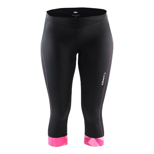 Womens Craft Velo Knickers Capris Pants - Black/Geo Pop XL