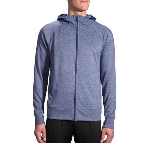Mens Brooks Joyride Hoodie & Sweatshirts Technical Tops - Heather Coast M