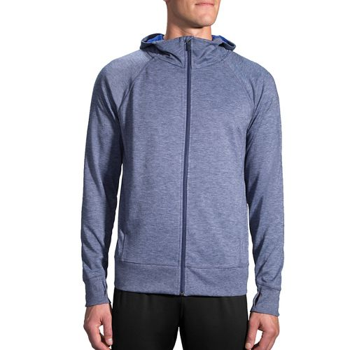 Mens Brooks Joyride Hoodie & Sweatshirts Technical Tops - Heather Coast XL