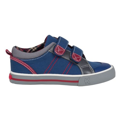 Kids See Kai Run Hess II Casual Shoe - Navy/Burgundy 1Y