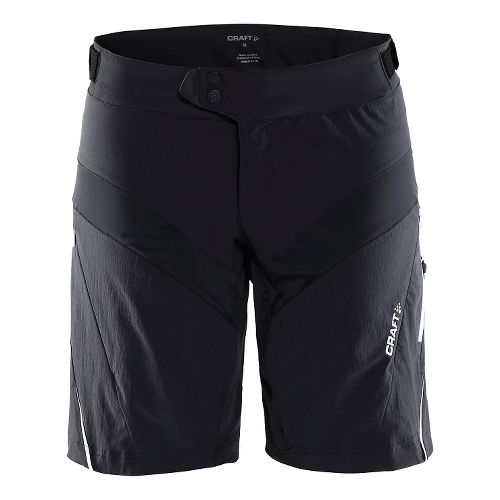 Womens Craft X-over Cycling Shorts - Black/White L