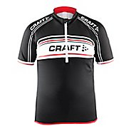 Craft Kids JB Logo Jersey Short Sleeve Technical Tops - Black/White/Red YS
