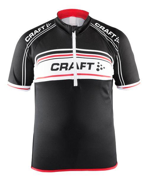 Craft Kids JB Logo Jersey Short Sleeve Technical Tops - Black/White/Red YM