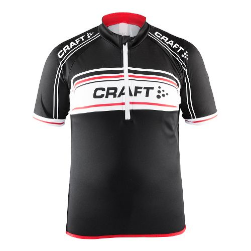 Craft Kids JB Logo Jersey Short Sleeve Technical Tops - Black/White/Red YS