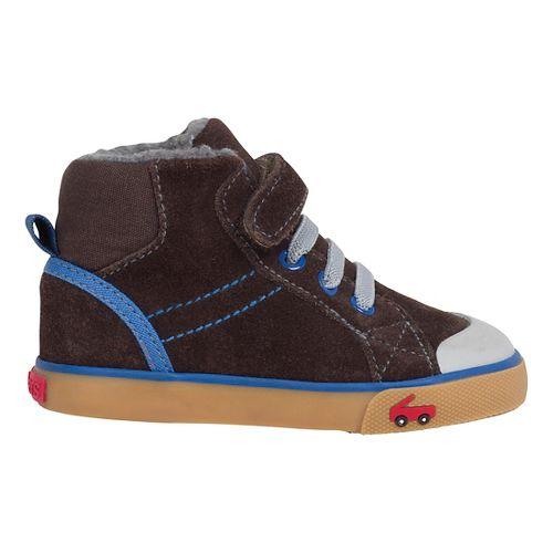 See Kai Run Boys Dane Fur Casual Shoe - Brown 6.5C