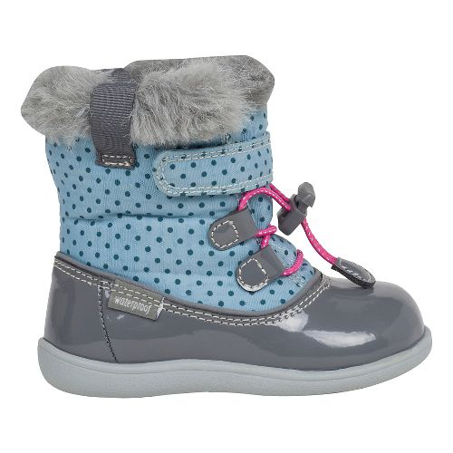 Kids See Kai Run Abby WP Casual Shoe - Light Blue/Grey 4C