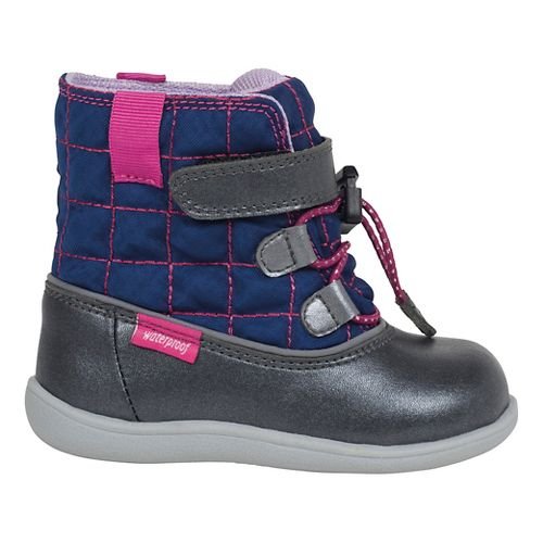See Kai Run Girls Abby WP Casual Shoe - Navy 9C
