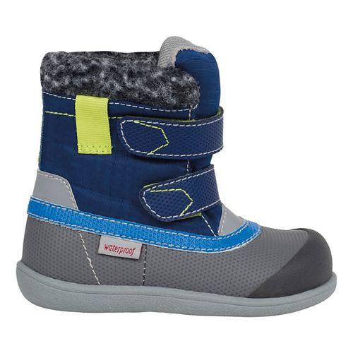 Kids See Kai Run Charlie WP Casual Shoe - Blue 8