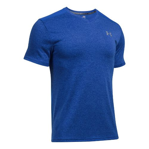 Mens Under Armour Streaker V-Neck Short Sleeve Technical Tops - Blue Marker XL