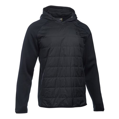 Mens Under Armour Swacket Insulated Popover Hoodie & Sweatshirts Technical Tops - Black XXL